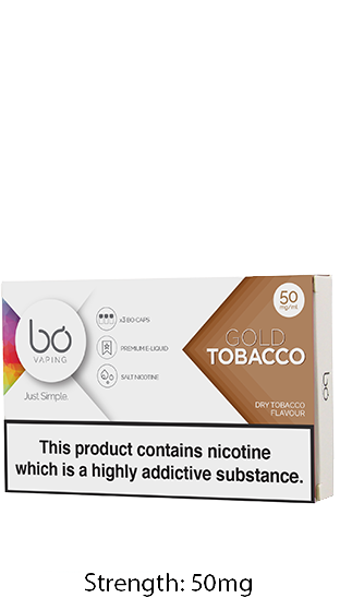BO VAPING Bo Caps Gold Tobacco 50mg (5x3 Pack)  ()