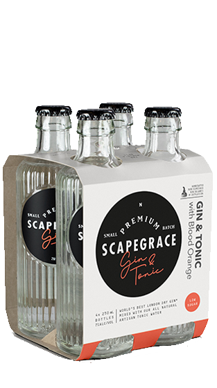 SCAPEGRACE Gin and Tonic RTD 250ml 6x4 Pk  (6.00L)