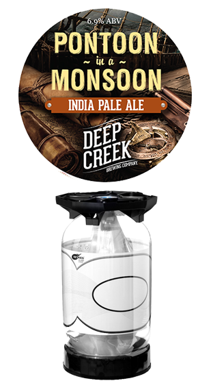 DEEP CREEK Pontoon In A Monsoon IPA Key Keg  (30.00L)