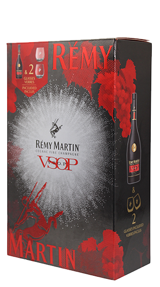 REMY MARTIN & Rocks Glass Gift Pack  (700ml)