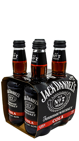 JACK DANIELS RTD & Cola 330ml 4 Pack Bottle  (330ml)