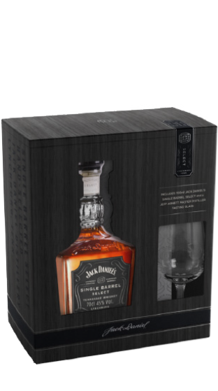 JACK DANIELS JACK DANIELS SINGLE BARREL WITH GLASS  (700ml)